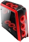 Redragon Jetfire Tempered Glass ATX Gaming PC Chassis - Black and Red