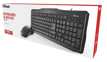 8e777a88552 Trust - Classicline Wired Keyboard and Mouse - Electronics Online | Raru