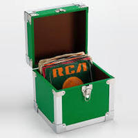 Steepletone 7 inch 50 Record Storage Carry Case (Green)