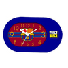 Barcelona - Club Crest & Logo Blue Frame Table Clock