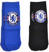 Chelsea - Blue And Black Socks (9-12) (Pack of 2)