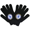 Chelsea - Big Crest Knitted Gloves - Black