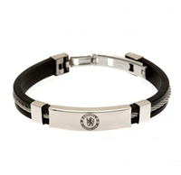 Chelsea - Silver Inlay Silicone Bracelet - Cover