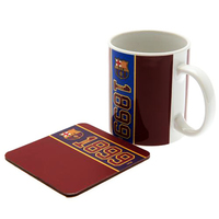 Barcelona - Club Crest & Year Of Establishment (Mug and Coaster Set) - Cover