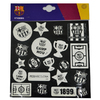 Barcelona - Club Crest & Logo Glow In The Dark Sticker Set