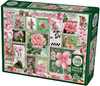 Cobble Hill - Pink Flowers Puzzle (1000 Pieces) Cover