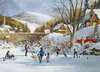 Cobble Hill - Hockey On Frozen Lake Puzzle (1000 Pieces) Cover
