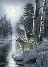 Cobble Hill - Wolves By Moonlight Puzzle (1000 Pieces) Cover