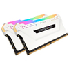 Corsair Vengeance RGB Pro - White heatsink 16GB (8GB x 2 kit)  DDR4-3200 CL16 1.35v - 288pin Memory Module (Dynamic Multi-Zone RGB with 10 LEDs per module)
