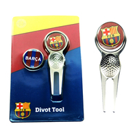 Barcelona - Club Crest Golf Divot Tool and Ball Markers - Cover