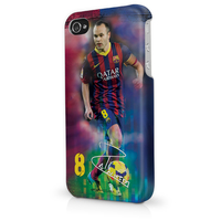 Barcelona - Andrés Iniesta iPhone 5/5S (Hard Phone Case) - Cover
