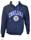 Chelsea - Navy Crest Mens Hoody (Large) Cover