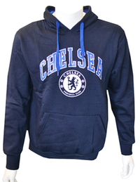 Chelsea - Navy Crest Mens Hoody (Small) - Cover