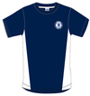 Chelsea - Navy Crest Mens T-Shirt (Large)