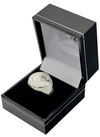 Chelsea - Silver Plated Crest Ring - Medium