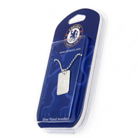 Chelsea - Silver Plated Dog Tag and Chain - Cover