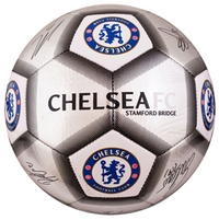 Chelsea - Silver Signature Football - Size 5 - Cover