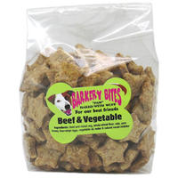 Barkery Bites - Whole-Wheat Biscuits - Beef & Vegetable (250g)