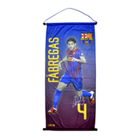 Barcelona - Club Crest & Fabregas Photo Pennant (Medium) - Cover