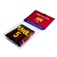 """Barcelona - Club Crest & Text """"PUYOL 5"""" Player Wristband - Cover"""