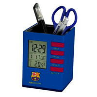 Barcelona - Club Crest Stationery LCD Desk Clock - Cover