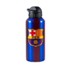 Barcelona - Club Crest & Text FC Barcelona Stripe Aluminium Water Bottle