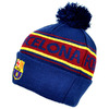 Barcelona - Club Crest & text 'FC Barcelona't Cuff Knitted Hat
