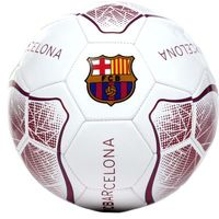 "Barcelona - Club Crest & Text ""FC BARCELONA"" White Prism Football (Size 5) - Cover"