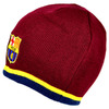 Barcelona - Club Crest Yellow Stripe Beanie Hat