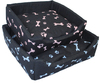 MCP - 600mm Square Dog Bed with Bone Design (Pink Bones)