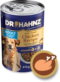 Dr Hahnz - Wet Dog Food Signature Range Can - Chicken (415g) - Cover
