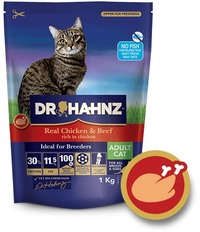 Dr Hahnz - Dry Cat Food Signature Range - Chicken & Beef (1kg) - Cover