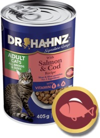 Dr Hahnz - Wet Cat Food Signature Range Can - Salmon & Cod (405g) - Cover