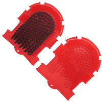 MCP - 17.5cm Double Sided Rubber Dog Grooming Brush (Assorted)