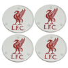 Liverpool - Club Crest Round Glass Coasters (Pack of 4)