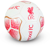 "Liverpool - Club Crest & Text ""Liverpool FC"" White Prism Football (Size 5)"