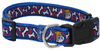 MCP - Large Nylon Dog Collar with Bones Design - 25mm (Blue)