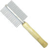 MCP - Metal Double Sided Dog Comb with Wooden Handle (5x18cm)