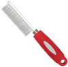 MCP - Standard Metal Dog Comb with Red Rubber Handle (4x21cm)