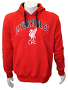Liverpool - Red Club Crest Mens Hoody (Large)