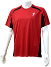 Liverpool - Club Crest Red Panel Mens T-Shirt (Large)