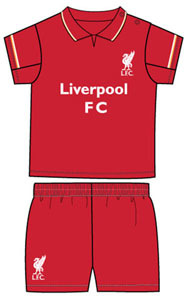 Liverpool - Club Crest Shirt & Shorts Set (12/18 Months) - Cover