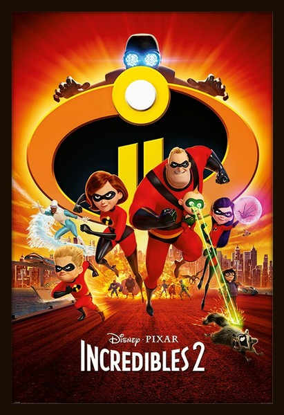 Incredibles 2 Movie Poster Framed Poster