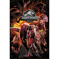 Jurassic World - Fallen Kingdom (Framed Poster)