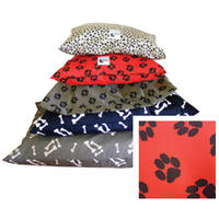 MCP - Small Water Resistant Dog Kennel Mattress (Red with Black Paw)