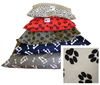 Afripet - Large Dog Kennel Mattress Cover Only (Beige with Black Paw)