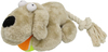 MCP - 30cm Plush Dog Toy with Ball and Rope Tail (Cream)