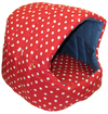 MCP - Large  Igloo Cat Bed with Cushion (Red and White)