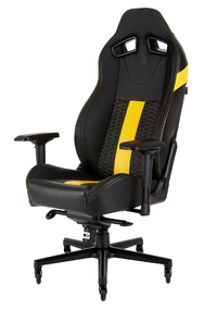 Corsair - T2 Road Warrior Gaming Chair - Black/Yellow - Cover