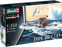 Revell - 1/350 - German Submarine Type VII C/41 (Plastic Model Kit) - Cover